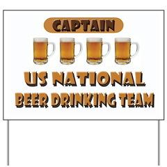 US National Beer Drinking Team Yard Sign