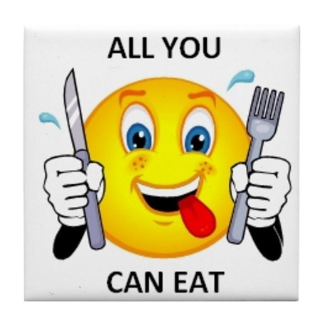 All you can eat Tile Coaster