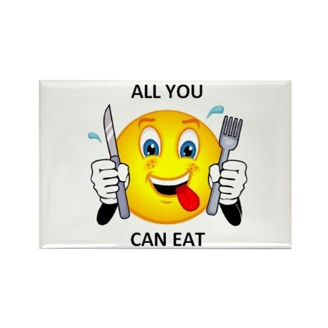 All you can eat Rectangle Magnet (100 pack)
