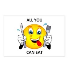 All you can eat Postcards (Package of 8)