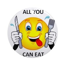 All you can eat Ornament (Round)