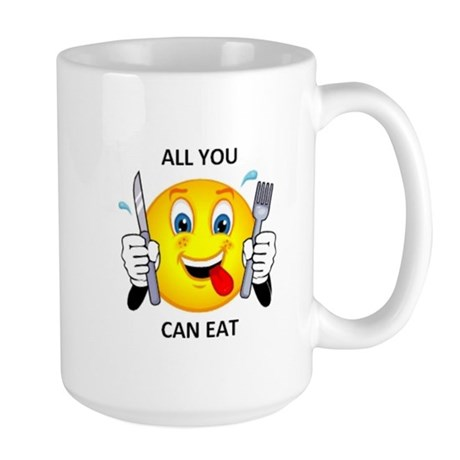 All you can eat Large Mug