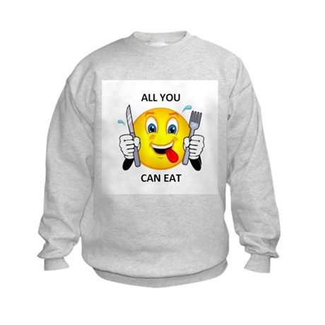 All you can eat Kids Sweatshirt