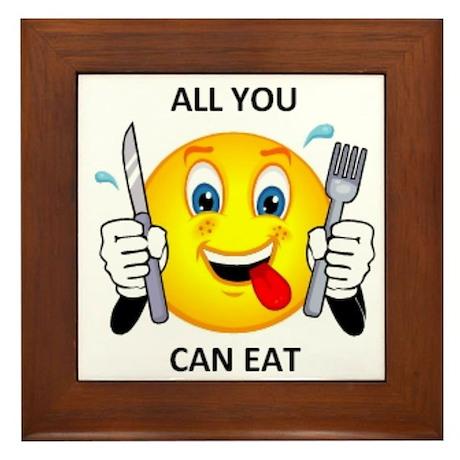 All you can eat Framed Tile