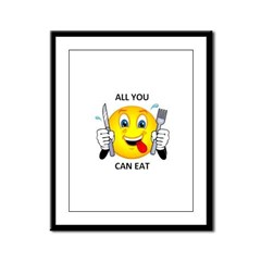 All you can eat Framed Panel Print
