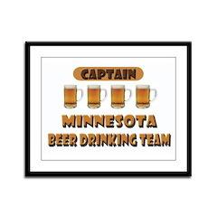 Minnesota Beer Drinking Team Framed Panel Print