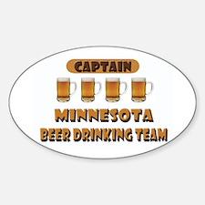 Minnesota Beer Drinking Team Oval Decal