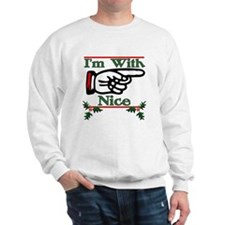 I'm With Nice Left Sweatshirt