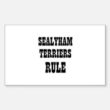 SEALYHAM TERRIERS RULE Rectangle Decal