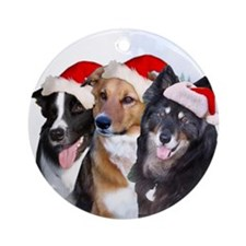 Caber, Nikita and Jessie Ornament (Round)