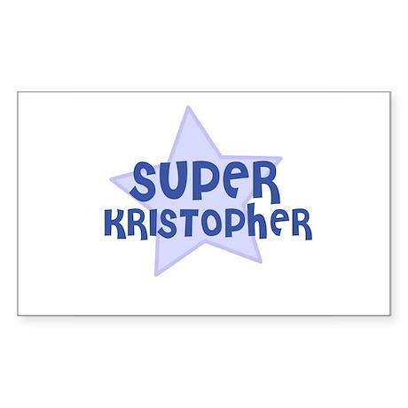 Super Kristopher Rectangle Sticker