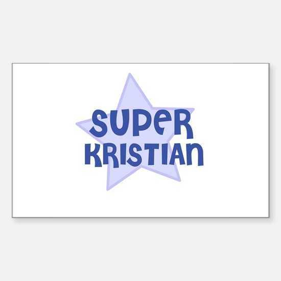 Super Kristian Rectangle Decal