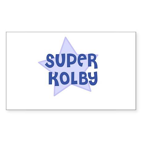 Super Kolby Rectangle Sticker