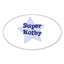 Super Kolby Oval Stickers