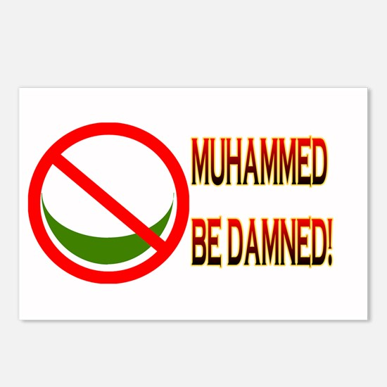 MUHAMMED BE DAMNED! Postcards (Package of 8)