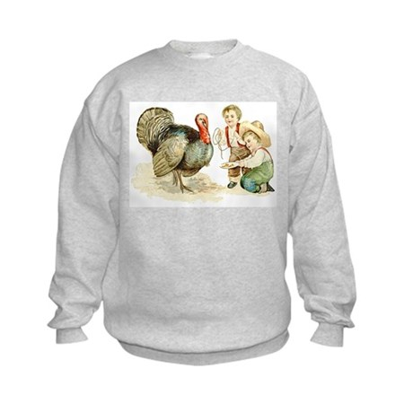 Antique Thanksgiving Kids Sweatshirt