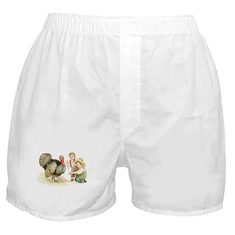 Antique Thanksgiving Boxer Shorts