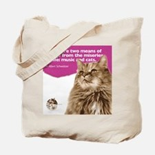 Schweitzer Cat Quote Tote Bag
