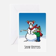 """""""Snow Happens"""" Greeting Cards (Pk of 20)"""