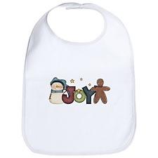 Snowman & Gingerbread Joy Bib