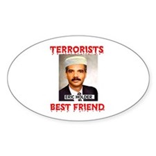 MUSLIMS LOVE THEM Oval Decal