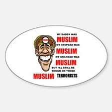 MUSLIMS LOVE THEM Oval Sticker (10 pk)
