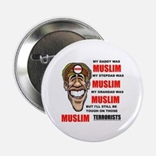 "MUSLIMS LOVE THEM 2.25"" Button (10 pack)"