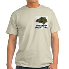 Horse Poop Doesn't Stink Ash Grey T-Shirt