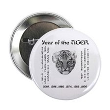 "2010 - Year of the Tiger 2.25"" Button"