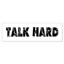 Talk Hard Pirate Radio Bumper Bumper Sticker