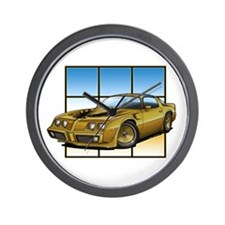 79-81 Trans Am Gold SE Wall Clock