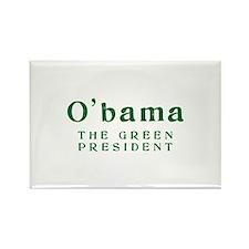 O'bama | Green President - Rectangle Magnet