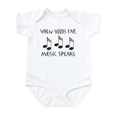 Words Fail Music Speaks Infant Bodysuit