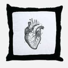 Cute Anatomical heart Throw Pillow