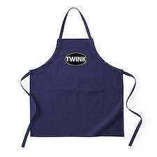 TWINK Black Euro Oval Apron (dark)