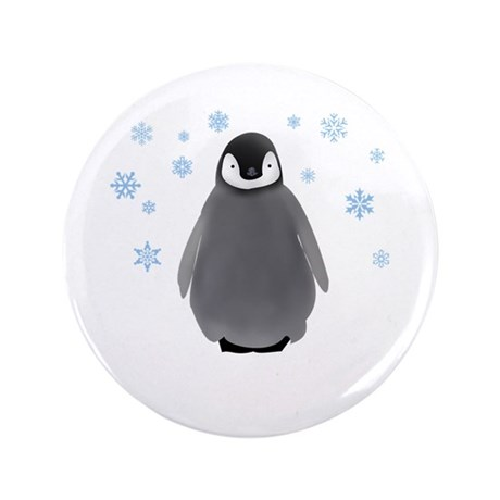 """Holiday Penguin 3.5"""" Button"""