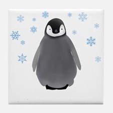 Holiday Penguin Tile Coaster
