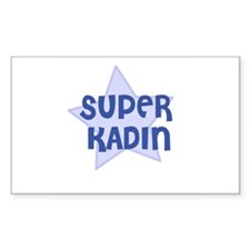 Super Kadin Rectangle Decal