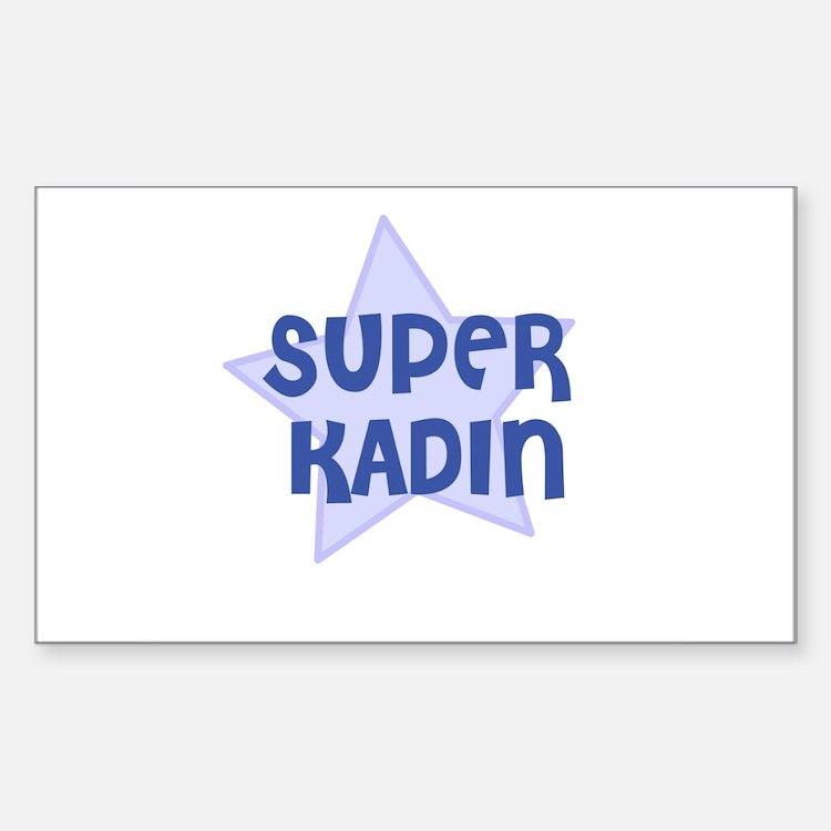 Super Kadin Rectangle Decal