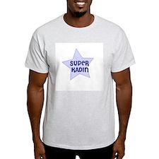Super Kadin Ash Grey T-Shirt