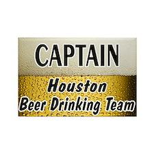 Houston Beer Drinking Team Rectangle Magnet