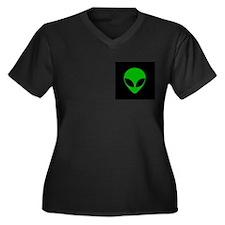 Aliens Women's Plus Size V-Neck Dark T-Shirt