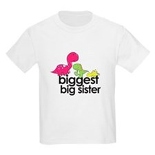 biggest big sister dinosaur shirt T-Shirt