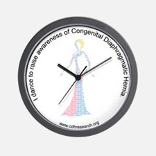 I Dance To Raise CDH Awareness Wall Clock