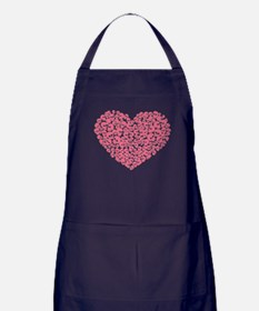 Pink Heart of Skulls Apron (dark)