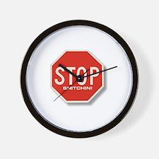 Stop Snitchin' Wall Clock