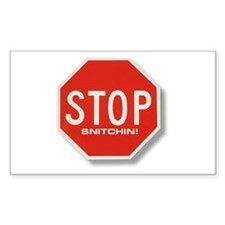 Stop Snitchin' Rectangle Decal