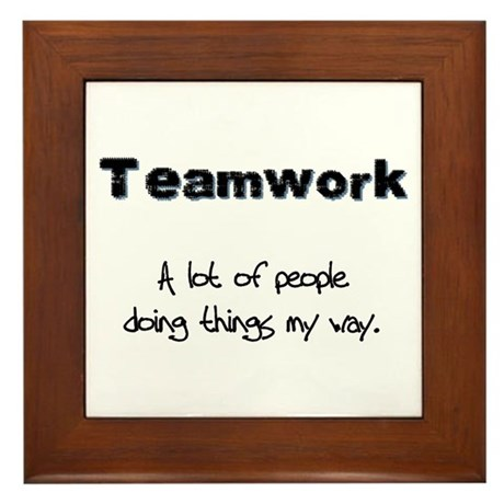 Teamwork - Black Framed Tile