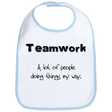 Teamwork - Black Bib