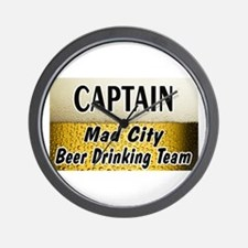 Mad City Beer Drinking Team Wall Clock